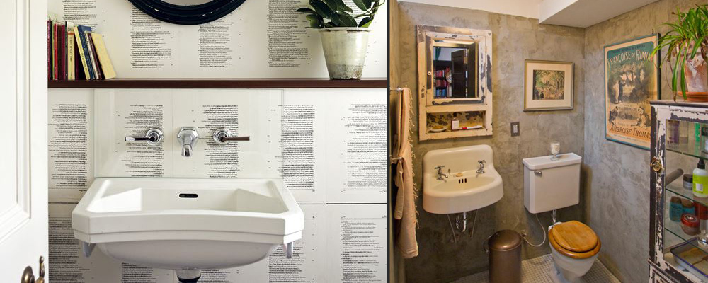 10 dramatic downstairs loos!